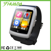 "T12 Hot sale U18 watch with heart rate monitor1.6""IPS Screen MTK6571Android 4 BIG MEMORY NFC GPS smart watch WIFI Bluetooth 4.0K"