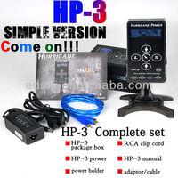 Hurricane Power HP-3 Black Dual Digital LCD Tattoo Power Supply, Touch Screen Hurricane Tattoo Power Supply