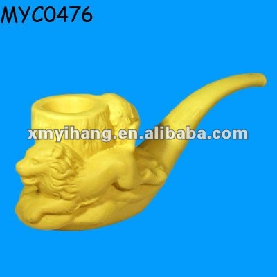 Polyresin pipe shaped lion polyresin decoration