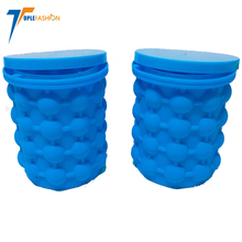 amazon hot sell Recolutionary Space Saving silicone ice cube maker genie bucket with lid