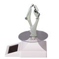 solar power plate 360 Degree solar power rotating display stand for ornament showcase