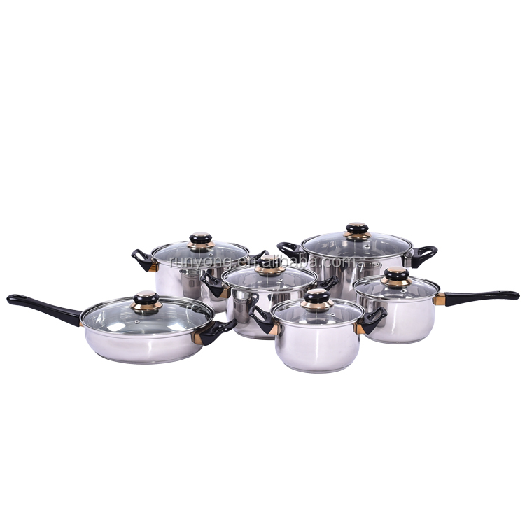 Long Life Time Good Reputation Commercial Induction Stainless Steel Cookware Sets Kitchen