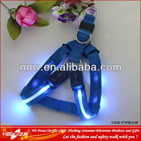 2014 new design rechargeable LED chain dog harness