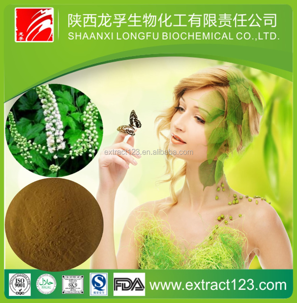 Natural Black cohosh root extract powder/2.5% Triterpenoid saponis