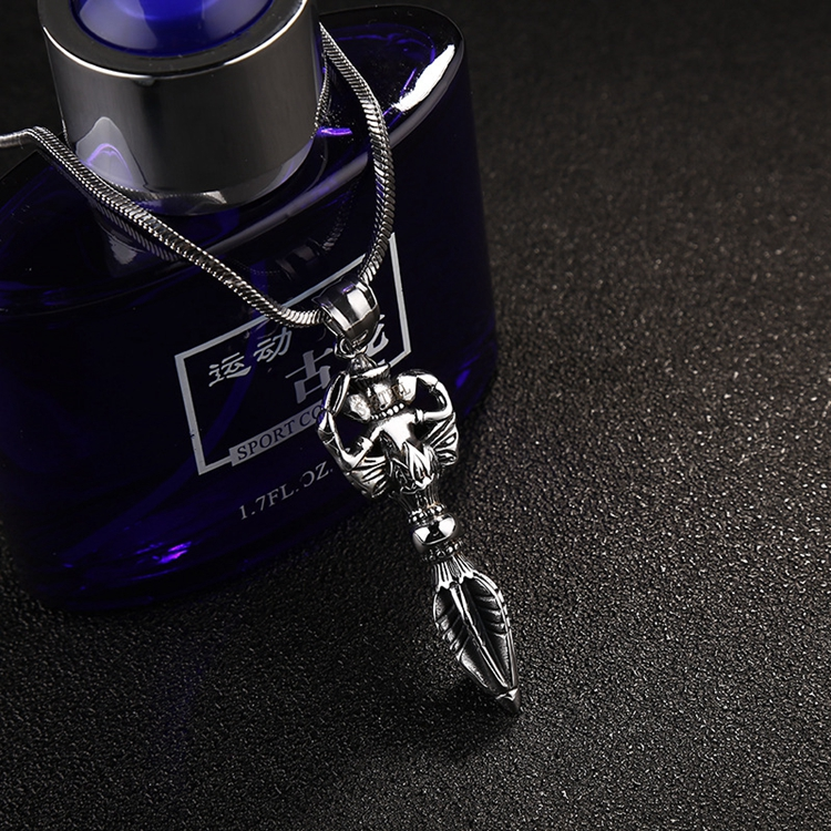 Bullet Shaped Special Designs Mens Stainless Steel Pendant Necklace Gifts