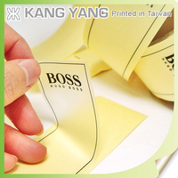 Printing Waterproof Adhesive Brand Name Clear Stickers Labels for Clothing