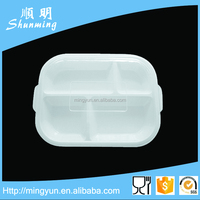 White melamine snack serving tray