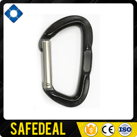 22.5mm Opening A7075 D Shaped Locking Aluminum Carabiner