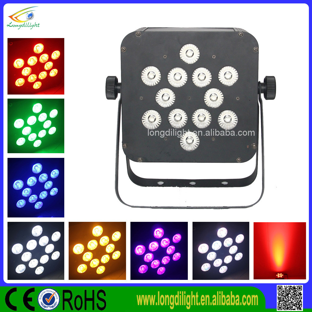 battery powered led par bar light 12*10w 5in1 rgbw for Dj Stage Show Club
