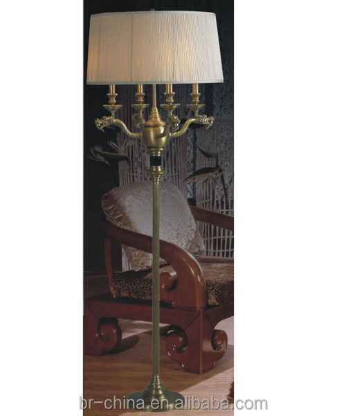 CE/UL/SAA brass floor lamp chandelier FL21814