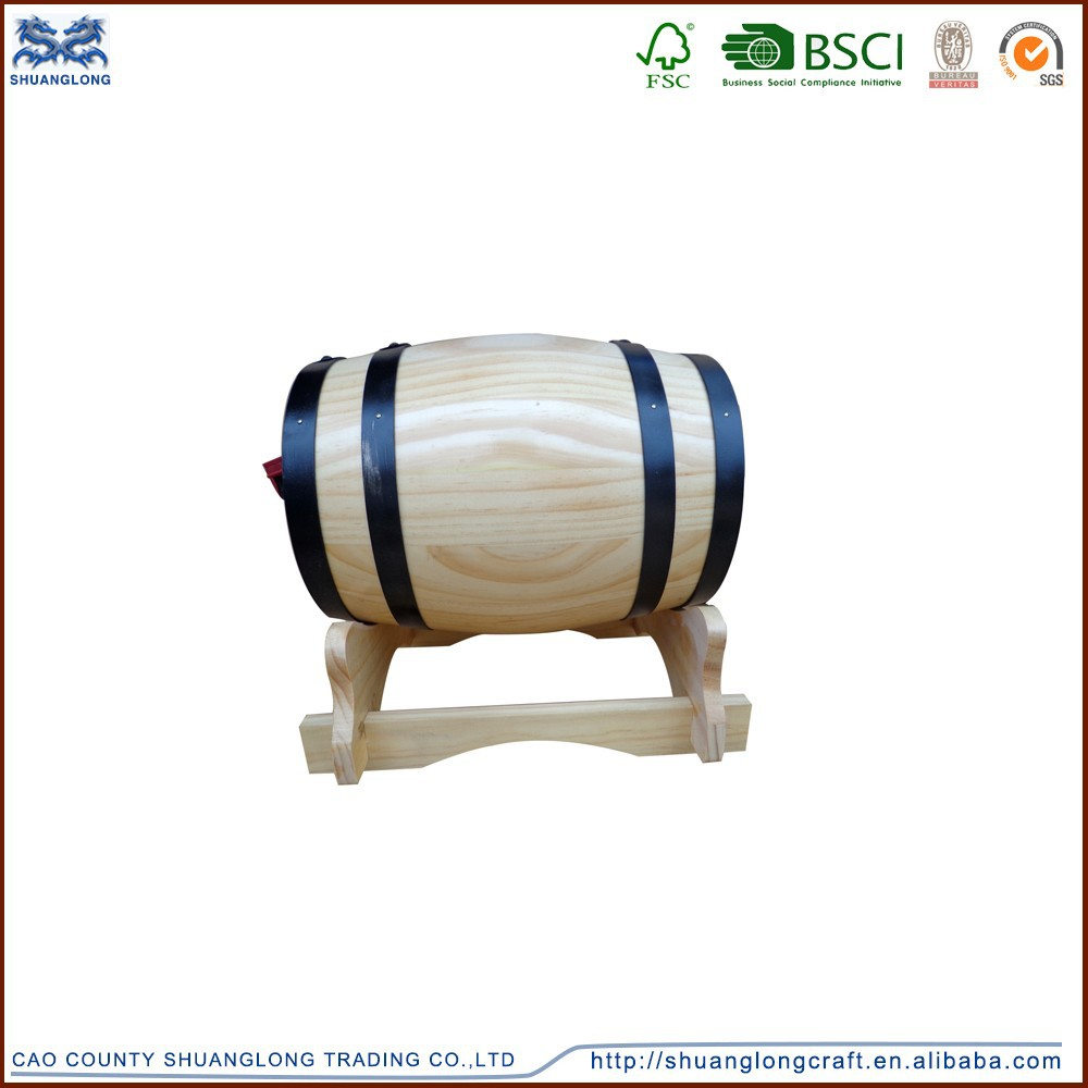 High quality wooden barrel for bar, various sizes and colors wooden barrels for beer/wine