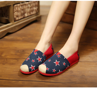 2016 Spring summer red Star pattern fashion women casual shoes
