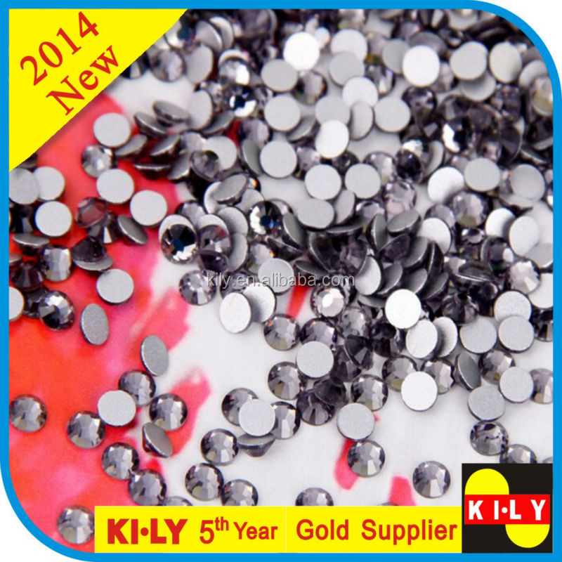 Best Quality Crystals Wholesale Non Hot Fix Flat-Back Rhinestones with Various Sizes and Colors
