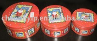 Tin Box Tin Can Round shape set of 3