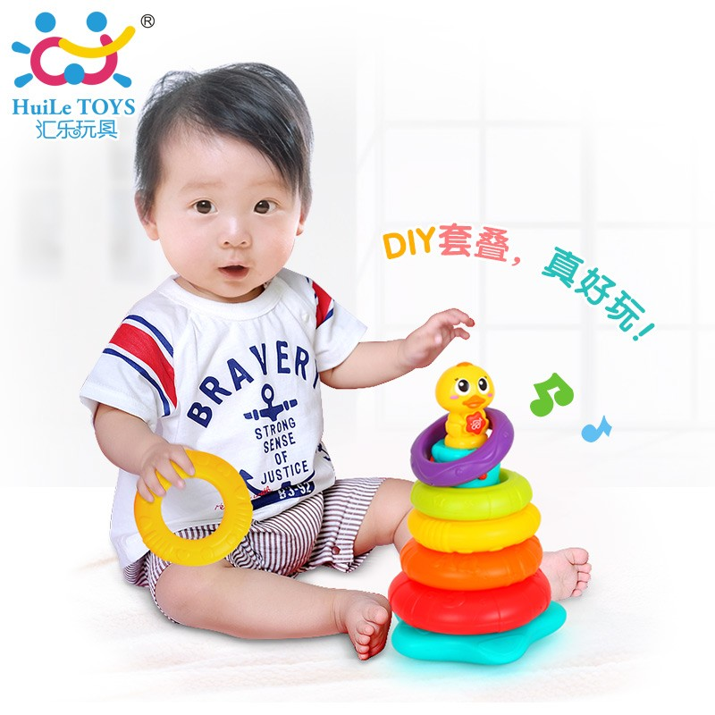 Huile Toys Plastic Duck Wholesale Toy Stacking Toy With Astm