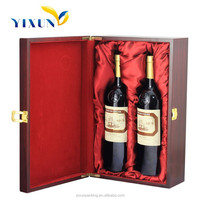 Single and 2 Bottles Custom Wooden Wine Box Wood Wine Carrier