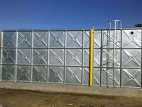 Rain water harvesting water tanks made of hot dip galvanized steel modular panels by Rivastaircon