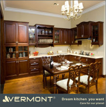 Fancy solid wood kitchen cabinets