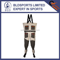 100% waterproof popular and hot sale seamless breathable fly fishing chest waders