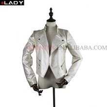 hot sale pearlescent genuine leather jacket women
