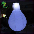 Advertising PVC Inflatable LED Lighting Bulb, Giant inflatable balloons for decoration