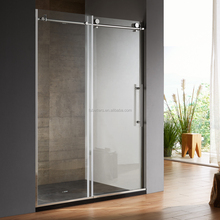 304 stainless steel hardware sliding cheap frameless shower door