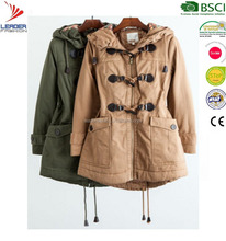 Women's Leisure padding overcoat for Winter Outerwear parka clothing