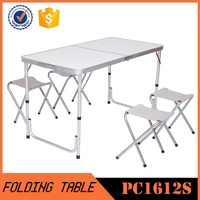 Aluminum Folding Portable Picnic Camping Set Table & Chairs 4 Person PC1612S