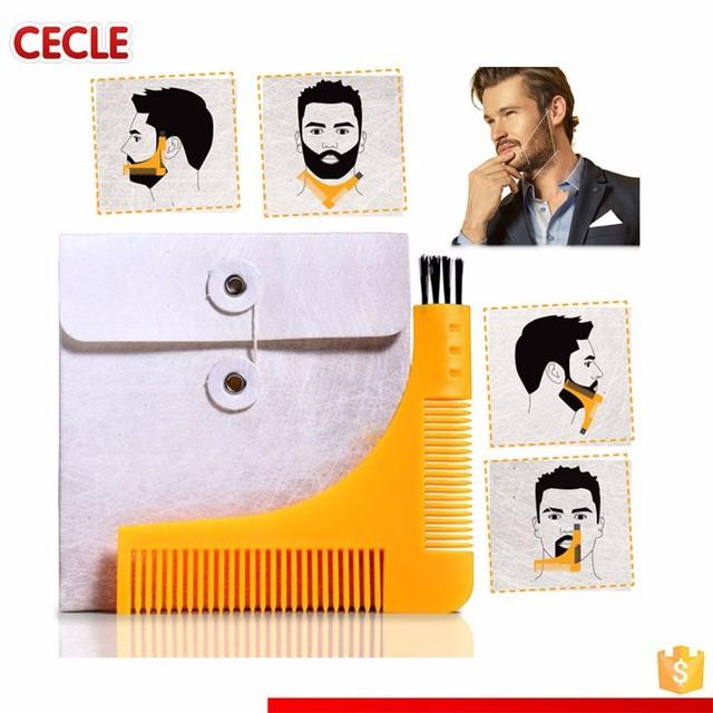 color the beard bro-beard comb facial hair shaping tool