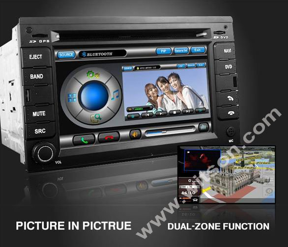 WITSON vw golf 4 gps with Dual Zone Function