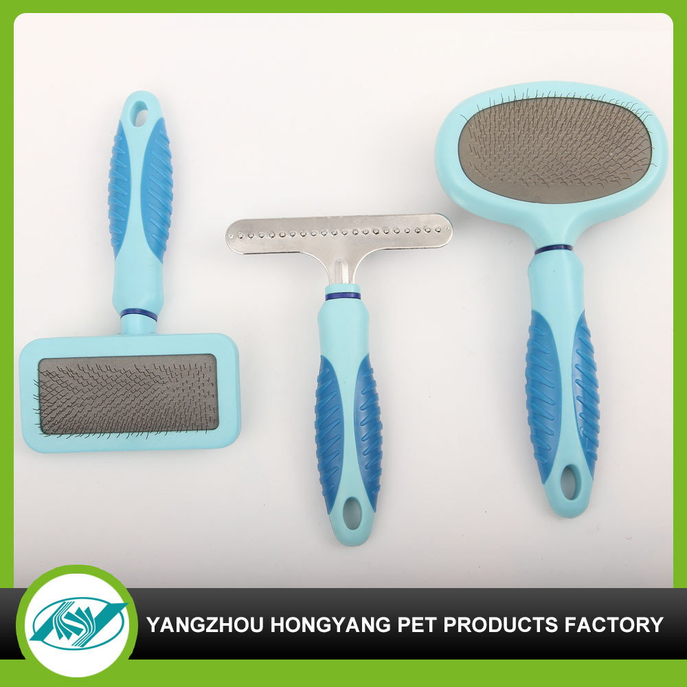 Colorful dog plastic hair cleanning brush