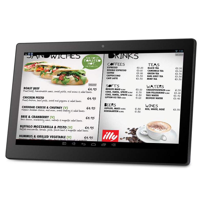 13.3 inch wifi bluetooth Android lcd advertisement digital signage