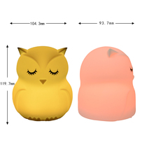 multicolor changing led night light,Led owl night light,baby night light