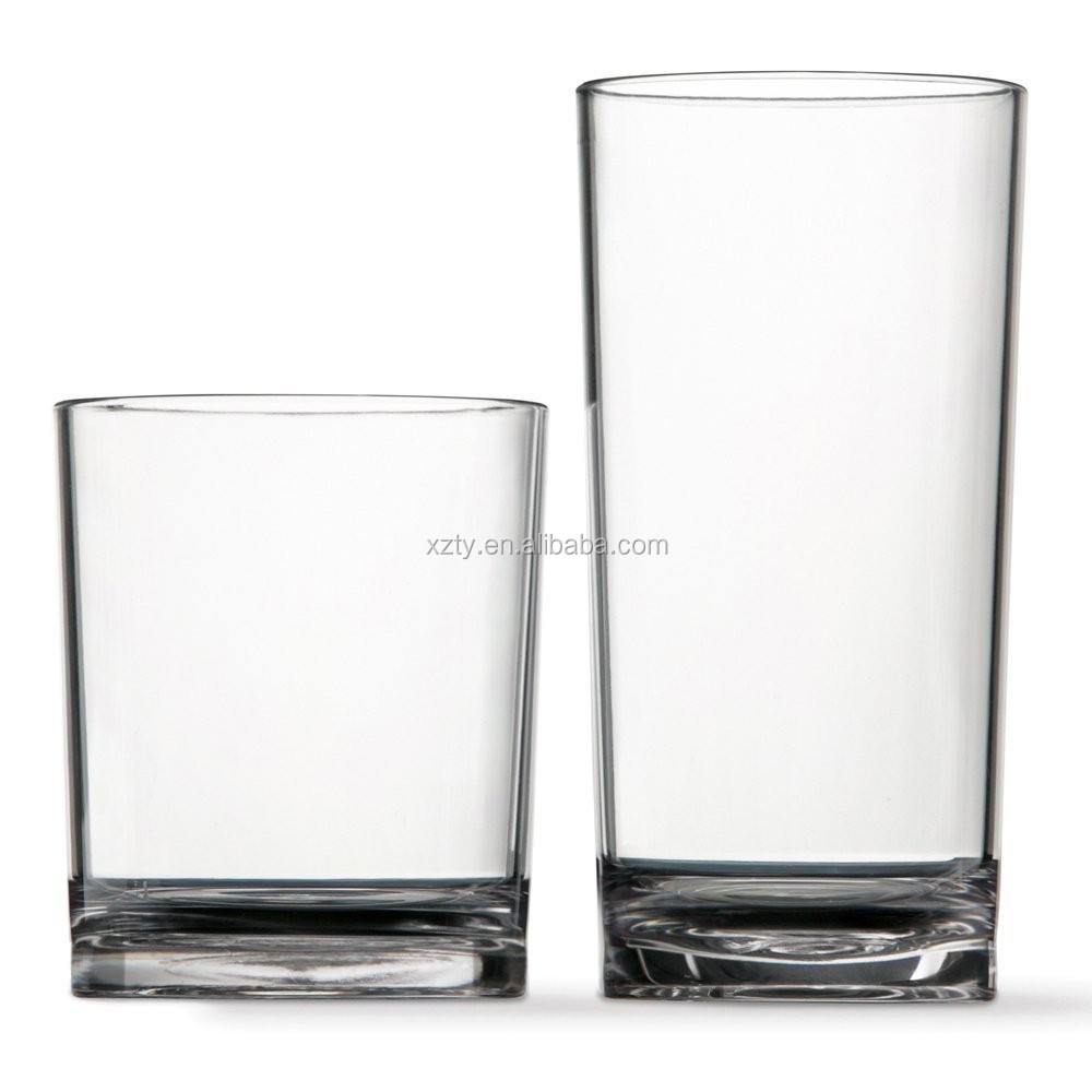 heavy base glass cup set glass tumblers wholesale