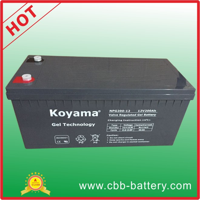 Dry Maintenance Free Gel Batteries 12V220AH