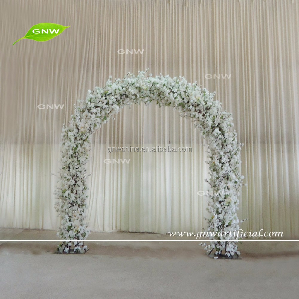 GNW FLA1609018 Hot China Products cherry blossom flower arch for wedding decoration
