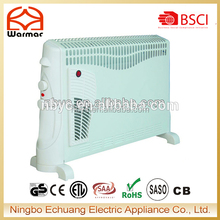 750/1250/2000W Power Heating Element Convector Heater