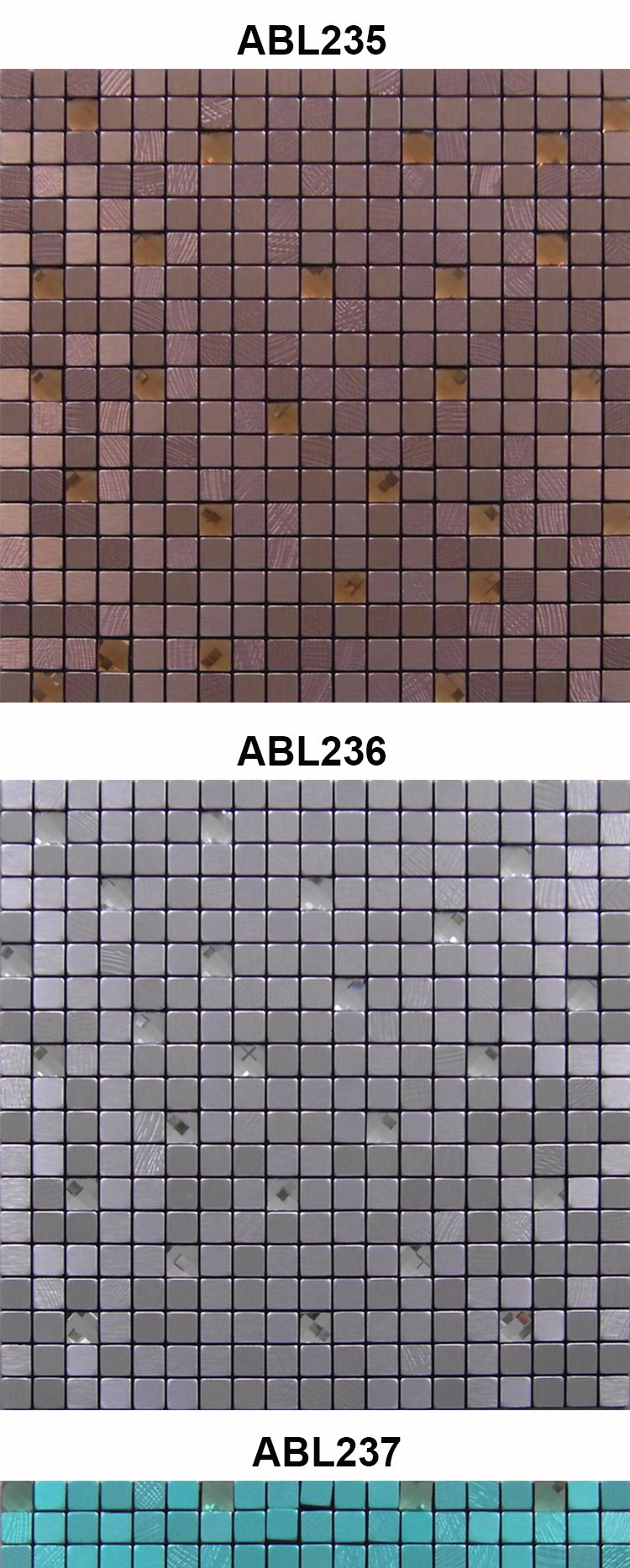 diamond Set drill metal mosaic tile modern kitchen bathroom design home decoration mosaics tile china supplier ABL03