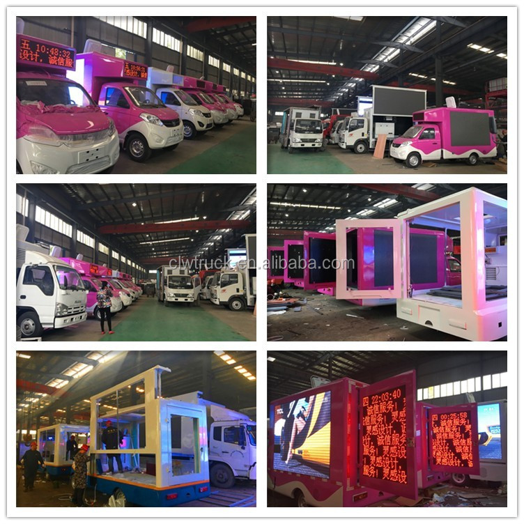 Factory direct Forland mobile led screen display video publicity truck for sale