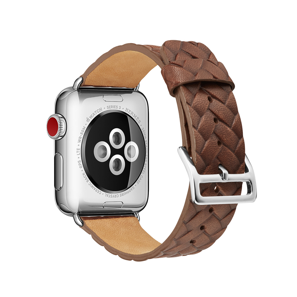 For Red Apple Watch Leather Watch Band 42mm