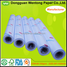 80gsm inkjet plotter paper 50m per roll for engineering drawing