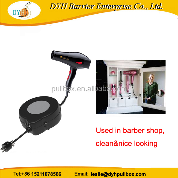 CE tangle free retractable cord hair dryer retractable electrical extension cords