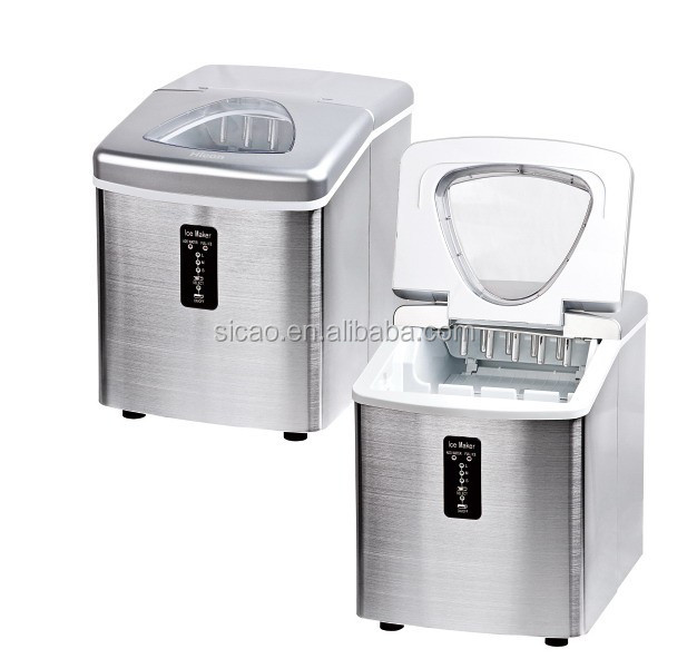 Shenzhen SICAO Supply S/S panel and black top cover 3.2L mini ice maker