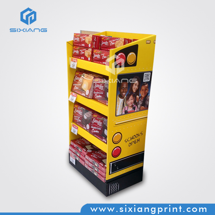 Custom Corrugated Cardboard Stand Display for Chocolate Pie