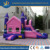 Pink Inflatable bouncer with slide for amusement park or family use