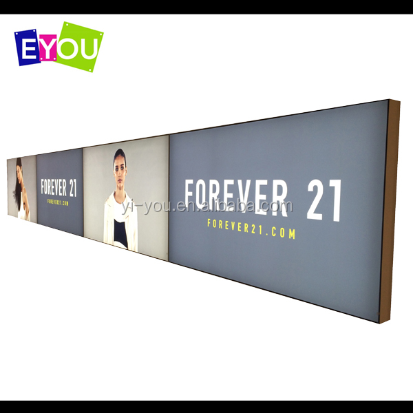 retail store fabric light box display advertising frame less LED light