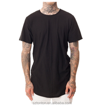 long line modal t shirt men,3d t-shirt,dry fit longline cotton t shirt