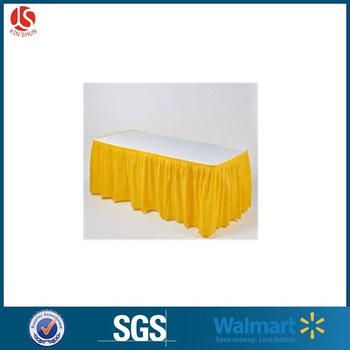 Plastic Banquet Ruffled Decorative Table Skirts
