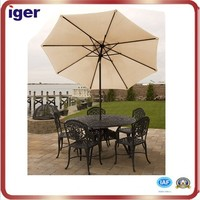 Hot sale polyester fabric garden water proof patio umbrella