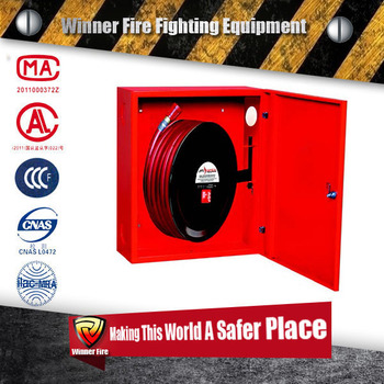 High quality fire hose reel cabinet for garden water